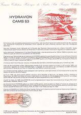 Document Philatélique Timbre 1er Jour : 02/03/ 1985 - Hydravion Cams 53