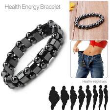 Bio Magnetic Hematite Bracelet Bangle Beads Pain Relief Therapy Arthritis Black