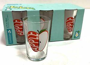 Apple Juice Glasses Luminarc Conique Drinkware Set of 6 Dishwasher Safe USA