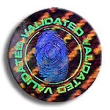 100 Validated Fingerprint Tamper Evident Hologram Product Protection Label Seals