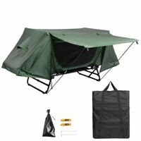 Portable Single Camping Tent Cot Folding Waterproof Hiking Bed Rain Fly Bag