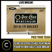 2018-19 O-PEE-CHEE PLATINUM HOCKEY 4 BOX (1/2 CASE) BREAK #H396 - PICK YOUR TEAM