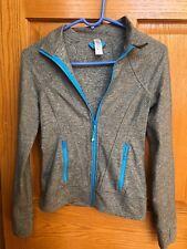 Girls Grey heathered Ivivva perfect your practice full zip hoodie size 12 EUC