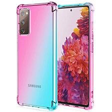 COVER per Samsung Galaxy S20 FE CUSTODIA Silicone TPU Gradient + VETRO TEMPERATO