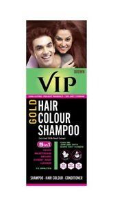 VIP hair Color Shampoo Gold Base Brown Colour 180 ml No Stains Easy to Use