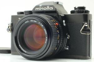 [Top MINT] Minolta XD Black w/ MD Rokkor 50 f1.4 From JAPAN#A015