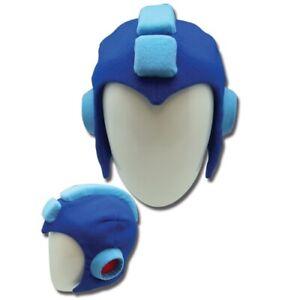 Mega Man Plush Helmet 10 X Megaman Protoman Costume Blue Hat Headpiece Cosplay