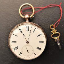 HERREN TASCHENUHR, gut erhalten, Schlüsselaufzug, gute Funktion, ca. 1870