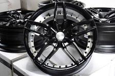 19x8.5 19x9.5 Set of 4 Stagger Black 5 Stars Wheels Rims 5x112 Fit Mercedes Audi