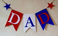 FATHER'S DAY BANNER DAD BIRTHDAY BUNTING DECORATION FOOTBALL TEAM COLOURS