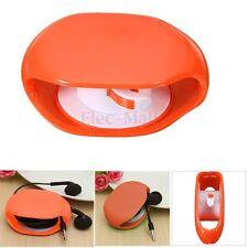 Orange Auto Cable Cord Wire Organizer Bobbin Winder Wrap For Headphone Earphone