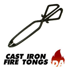 CAST IRON FIRE TONGS FOR WOOD STOVES AND SOLID FUEL OPEN FIRES