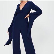 Extreme Sleeve Plunge Jumpsuit Size 8
