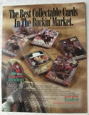 1995 High Gear RODEO Trading Cards SELL SHEET (No Cards)