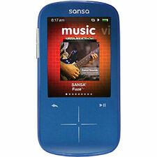 BLUE SANSA SANDISC FUZE+ MP3 8.0 GB MEDIA PLAYER  MUSIC SMALL WITH MICRO SD SLOT