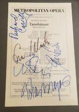 "Metropolitan Opera ""Tannhauser"" Hand Signed by 5 Program JG Autographs"