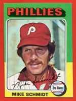 1975 Topps Mini #70 Mike Schmidt VG-VGEX+ WRINKLE Philadelphia Phillies FREE S/H