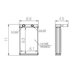 HVAC Heater Core TYC 96122