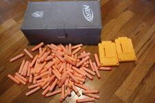 Nerf Storage Locker Box N-Strike Ammo Plastic Footlocker WITH Ammo -- 100 Darts