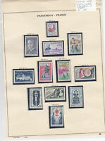 France 1962 MM+Used Stamps On 2 Pages  Ref: R6504