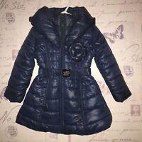 Le Chic Baby Girl Navy Blue Shiny Warm Coat Jacket Padded Dress 1 2 18 24 Months