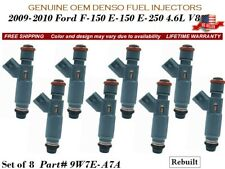 8 Fuel Injectors OEM DENSO for 2009-2010 Ford F-150 E-150/250 4.6L V8 #9W7E-A7A