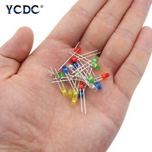 Emitting Diodes LED Lights Lamp Parts 3mm Head For Electronics Arduino DIY F52E