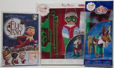 The Elf on the Shelf Playful Reindeer PJ's An Elf Story DVD & Arctic Ski Set NEW
