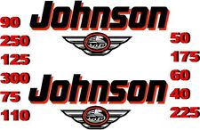 2 JOHNSON BOAT MOTOR DECAL,STICKER,DECALS OUTBOARD NEW