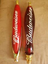 Two Very Nice Budweiser Beer Tap Handles.