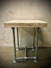 Industrial Reclaimed Scaffold Board Table Coffee Shop Restaurant Bar Steel Legs