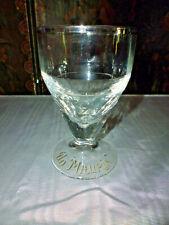 """Ancien verre à pied """"Un Maurin"""" bistrot apéritif à liseré gris argenté 1900"""