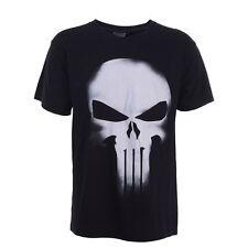 Black Tee The Punisher Skull Marvel Spiderman Inspired Short Sleeve T Shirt NEW
