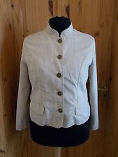 M&S oatmeal light beige sand neutral brass button mandarin collar coat jacket 16