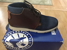 New Birkenstock ESTEVAN Navy and brown Ankle Shoes 42 R Mens 9 or Womens 11