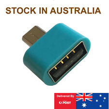 Micro USB B Male to Female USB Type A, OTG Adaptor for Android Phones Teal
