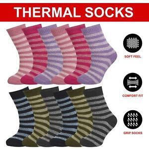 Childrens Boys Girls Thermal Socks 2.45 Tog Gripper Winter Warm Anti Slip Socks