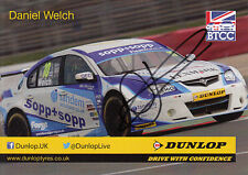Daniel Welch Hand Signed British Touring Cars Promo Card.