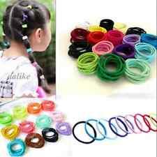 Fashion Cute Girl Elastic Hair Bands Ponytail Holder Head Rope Ties 100 Pcs/Lot