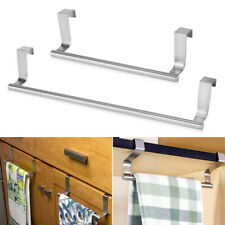 Kitchen Under Cabinet Towel Paper Hanger Rack Storage Shelf Holder Organizer