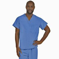 Scrub Top NEW Blue Unisex S Small Men's Women's Nursing Medical Uniform A116