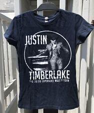 Justin Timberlake 20/20 World Tour T Shirt 2014 Tee Dark Blue