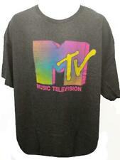 New Classic MTV Colorful Adult Mens Size 2XL 2XLarge Gray Shirt