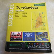 SPOKANE WASHINGTON The Yellow Book 2012/2013 Telephone Directory w white pages