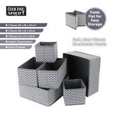 Folding Canvas Storage Box Wardrobe Organiser Drawer Socks Ties Box Divide