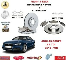 FOR AUDI A5 COUPE 2.7 TDI 2012->ON FRONT + REAR BRAKE DISCS PADS and FITTING KIT