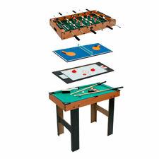 4-in-1-Mehrspieltisch Holz Billard + Tischfußball + Air Hockey + Tischtennis #36
