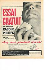 PUBLICITE ADVERTISING   1959    PHILIPS   Rasoir