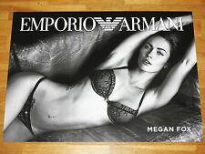 MEGAN FOX PROMO COMMERCIAL POSTER BY EMPORIO ARMANI / 70 x 50 CM MEGA RARE MINT