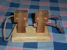 Wood Gas Pumps Cleo's Handcrafted Toys Boyceville WI  3 3/8 Inch High